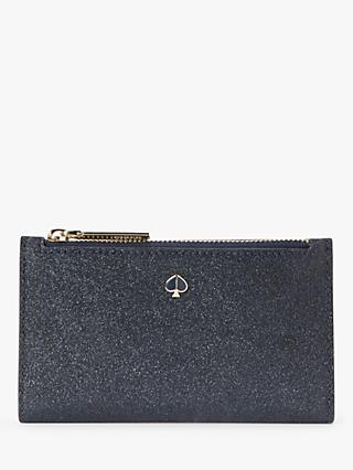 kate spade new york Burgess Court Leather Medium Bi-Fold Purse, Lakeshore Blue