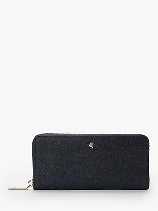 kate spade new york Burgess Court Leather Slim Continental Purse, Lakeshore Blue