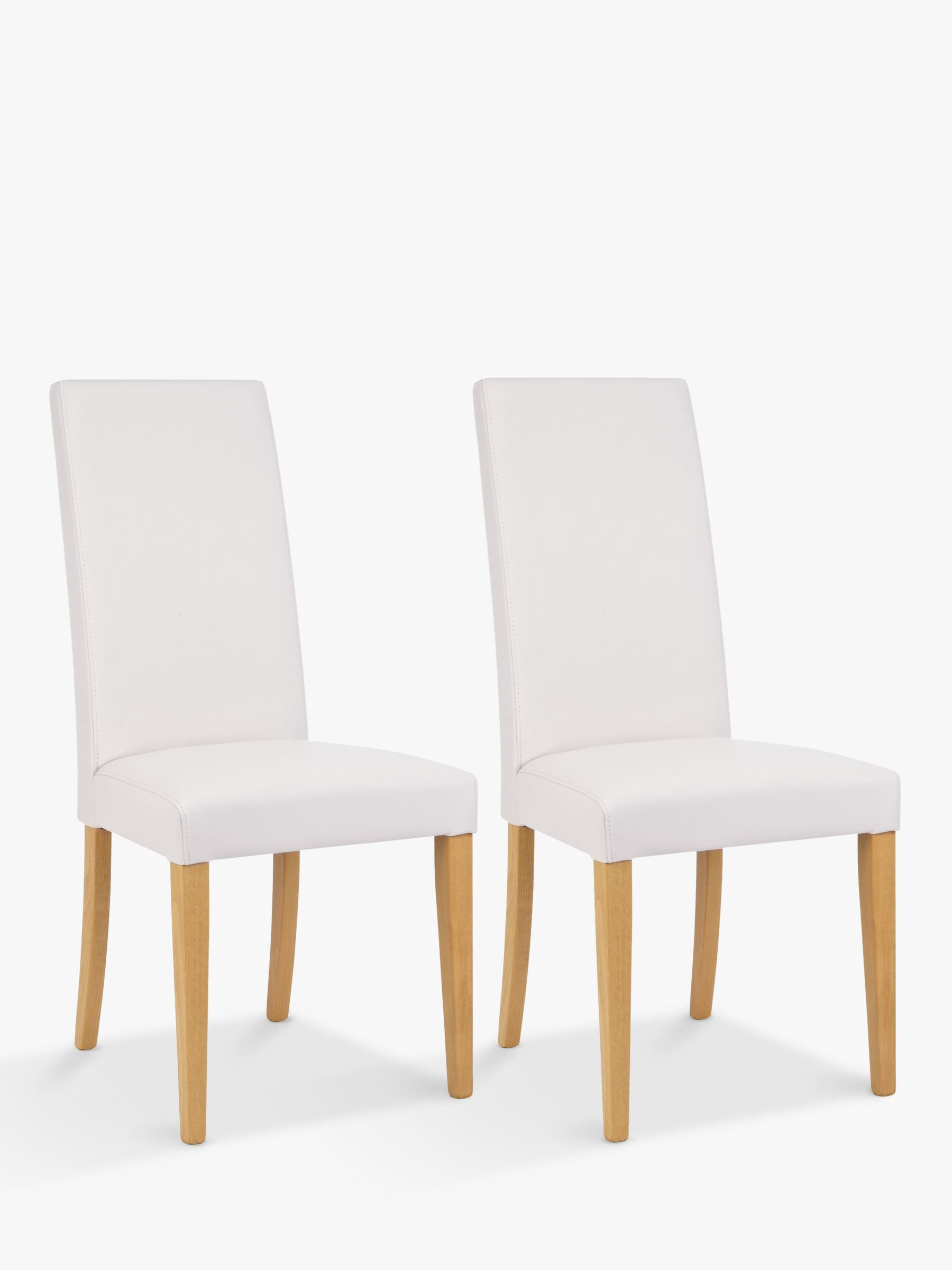 Tremendous John Lewis Partners Lydia Leather Effect Dining Chairs Set Of 2 Fsc Certified Beech Wood Chalk Gamerscity Chair Design For Home Gamerscityorg