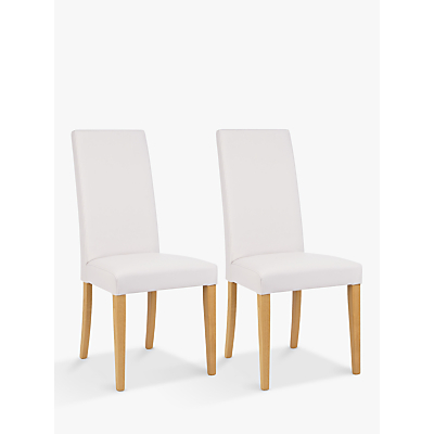 John Lewis & Partners Lydia Leather Effect Dining Chairs, Set of 2, FSC-Certified (Beech Wood)