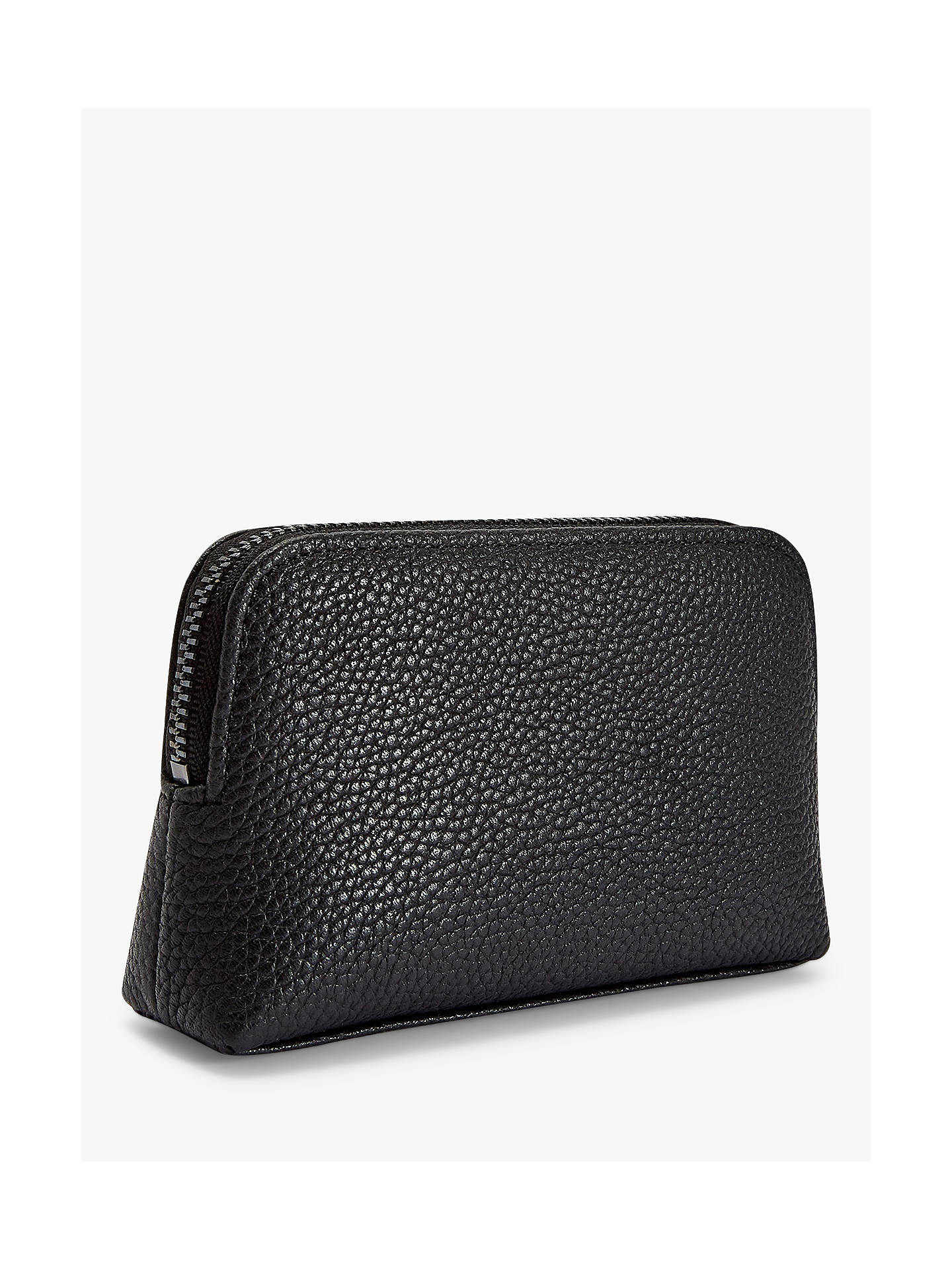 Ted Baker Panse Leather Makeup Bag, Black