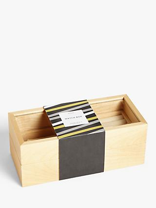 John Lewis & Partners Small Wooden Jewellery Box
