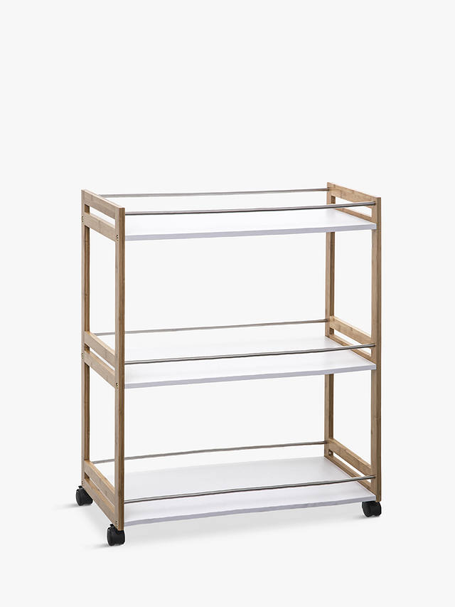 Buy Hahn 5five Large Kitchen Trolley, Bamboo Online at johnlewis.com