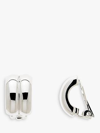 Emma Holland Curved Clip-On Earrings, Silver