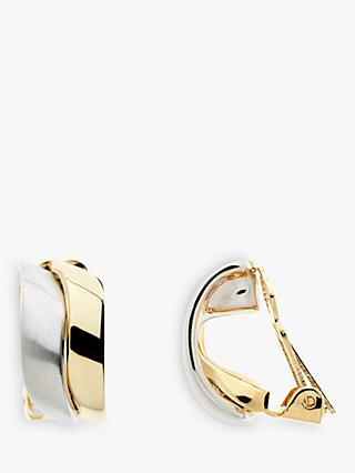 Emma Holland Wave Clip-On Stud Earrings, Gold/Silver