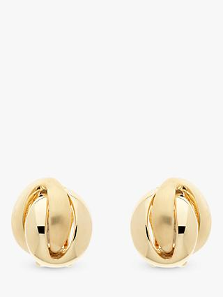 Emma Holland Knot Clip-On Earrings, Gold