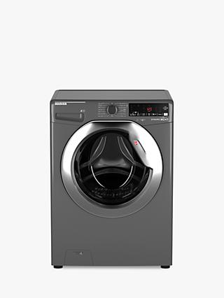 Hoover DWOA413HLC3G Dynamic Next Freestanding Washing Machine, 13kg Load, A+++kg Energy Label, 1400rpm Spin, Graphite