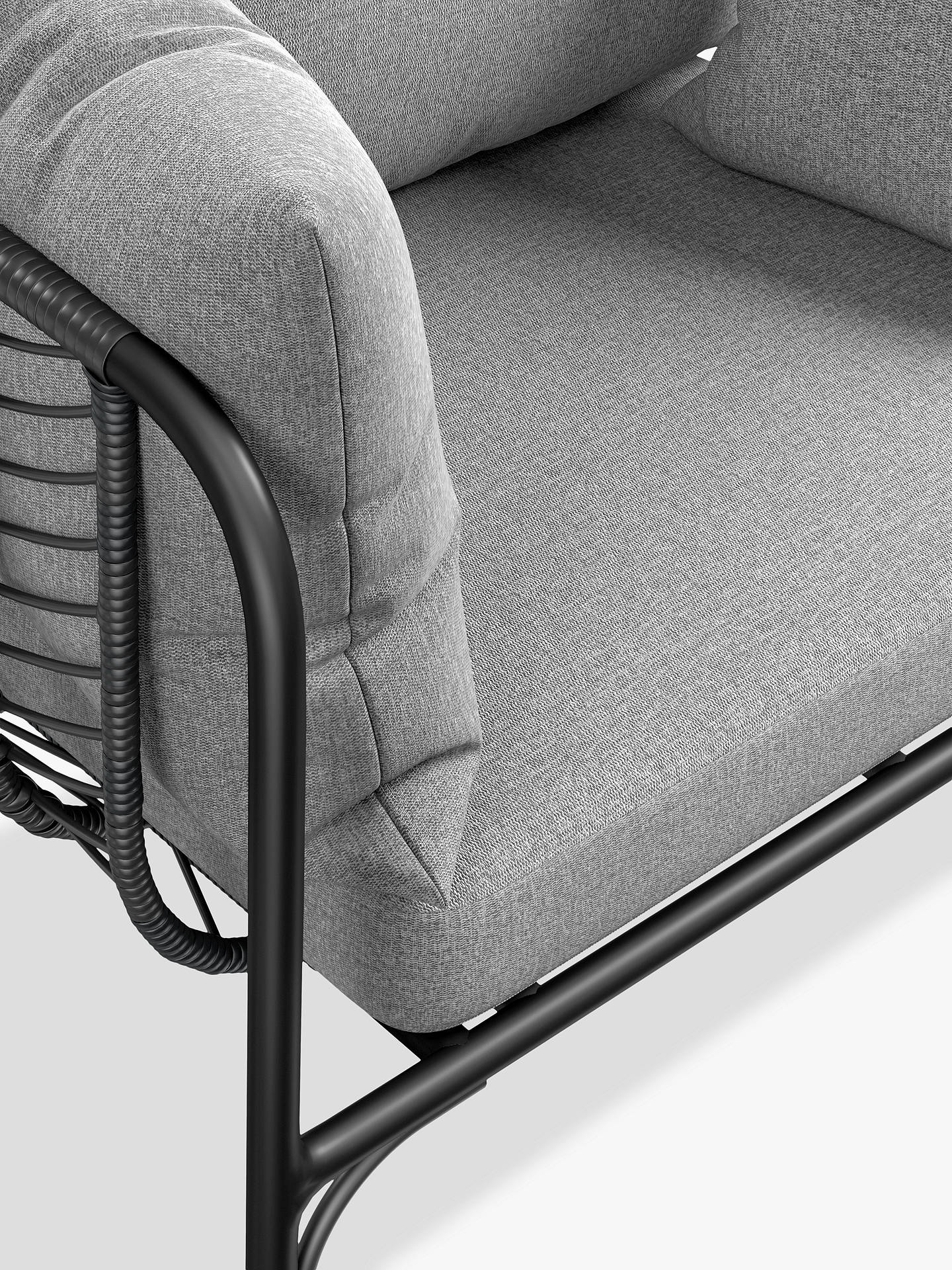 Buy John Lewis & Partners Chevron Garden Lounging Chair, Black/Grey Online at johnlewis.com
