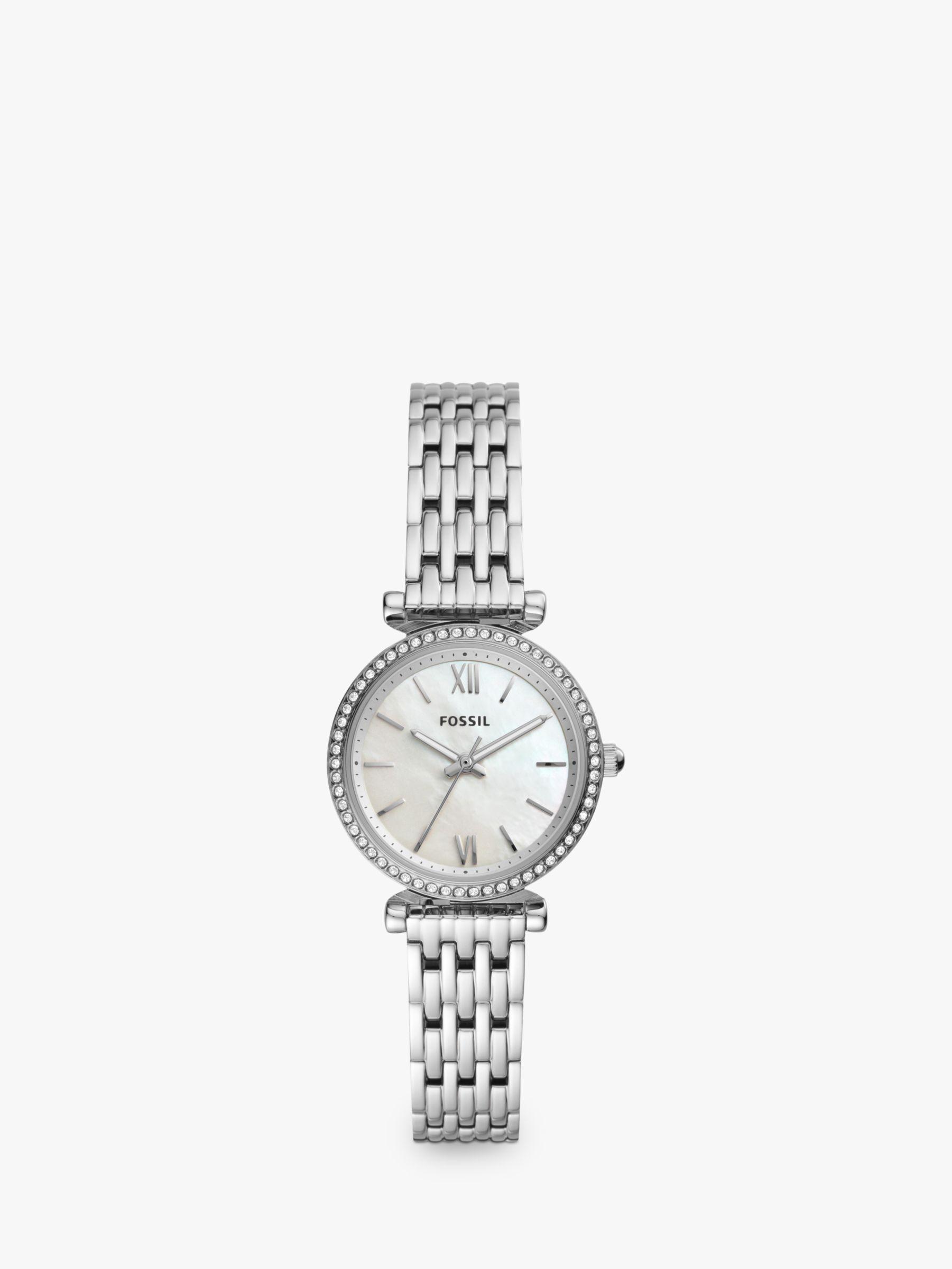 Fossil Fossil Women's Carlie Crystal Bracelet Strap Watch