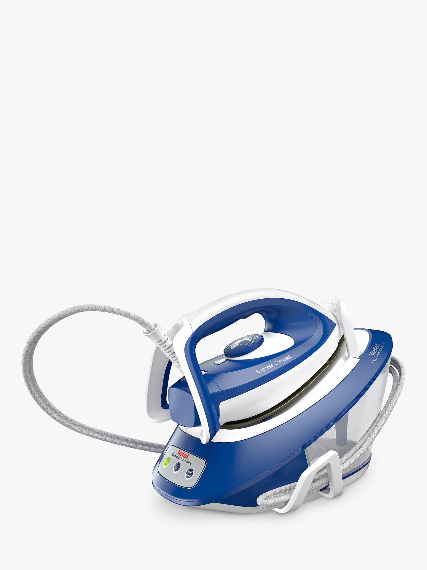 Buy Tefal SV7112 Steam Generator Iron, Blue Online at johnlewis.com