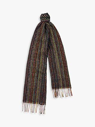 Paul Smith Cashmere Basket Weave Scarf, Black