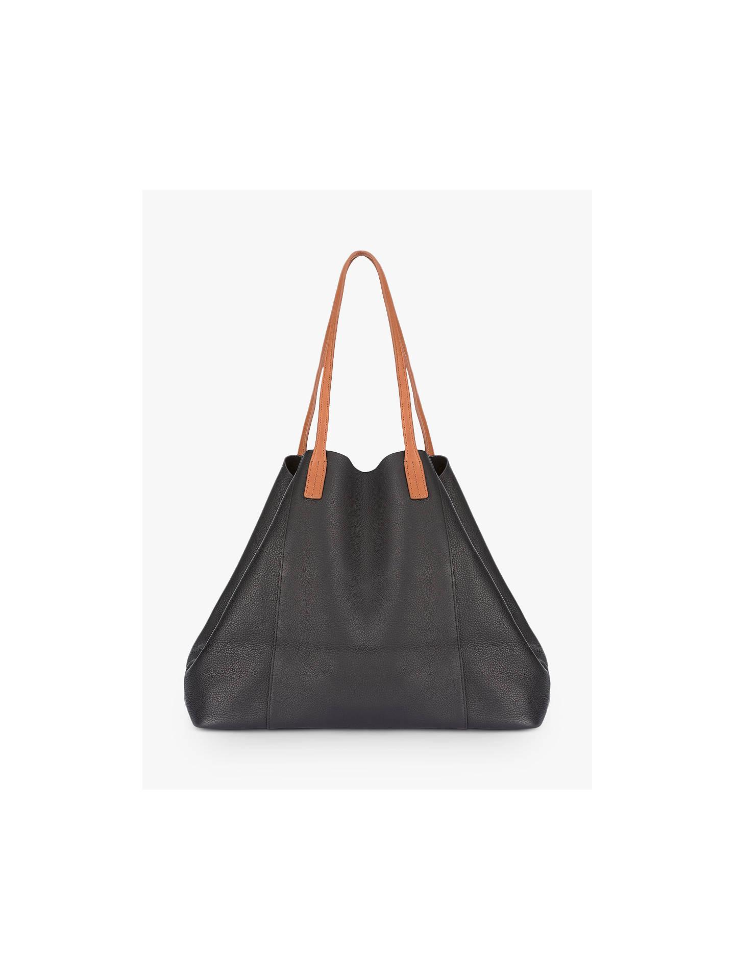 287d1be0 Buy Mint Velvet Liza Leather Oversized Tote Bag, Black Online at  johnlewis.com ...
