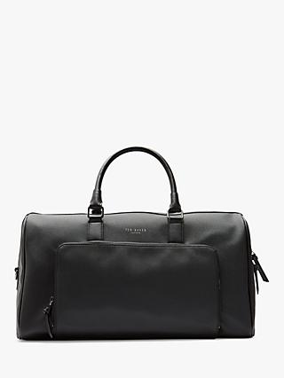Ted Baker Ander Leather Holdall, Black