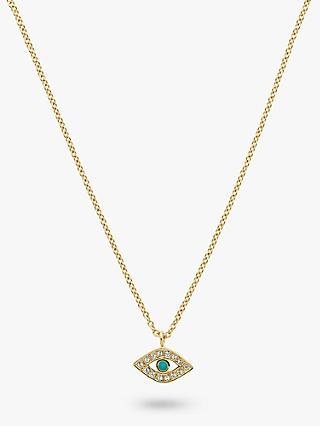 Melissa Odabash Swarovski Crystal Eye Pendant Necklace