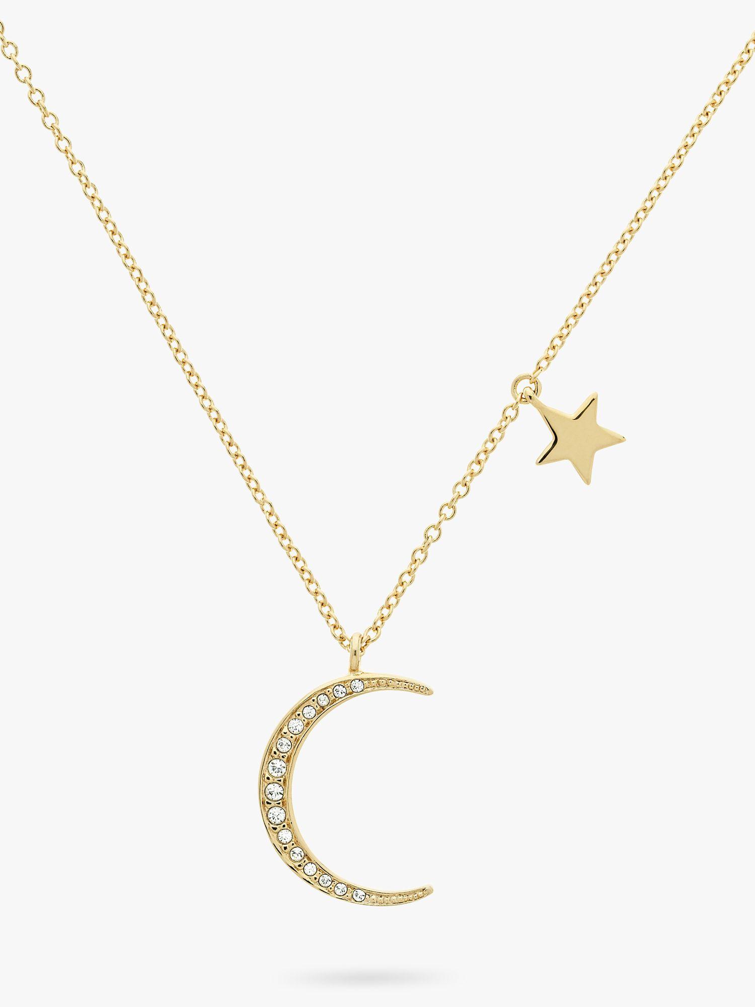 Melissa Odabash Melissa Odabash Swarovski Crystal Moon Pendant Necklace