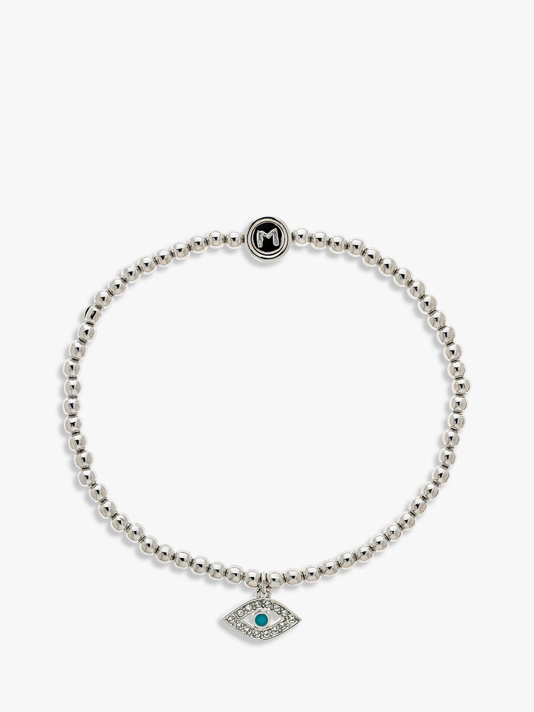 Melissa Odabash Swarovski Crystal Eye Beaded Bracelet