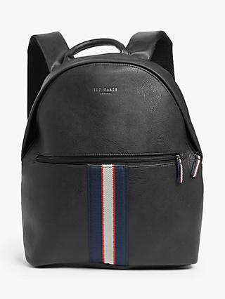 Ted Baker Butchar Webbing Backpack, Black