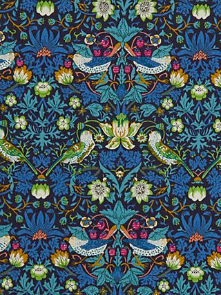 Liberty London Strawberry Thief Print Fabric, Blue
