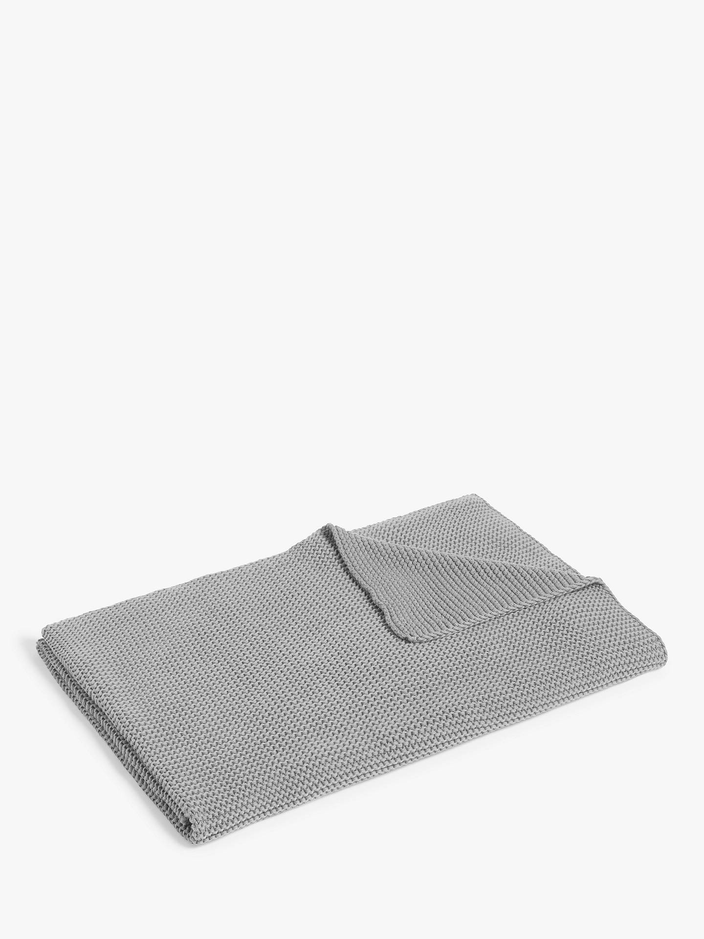 Buy little home at John Lewis Addison Knitted Throw, Slate Grey Online at johnlewis.com