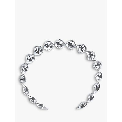 Nina B Spiral Twist Bangle, Silver