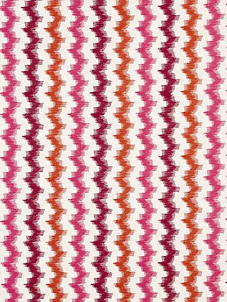 John Lewis & Partners Nomad Stripe Furnishing Fabric, Grape