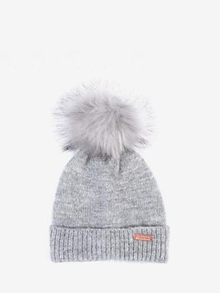 Barbour International Sparkle Knit Beanie, Grey