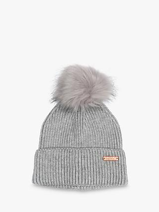 Barbour International Mallory Pom Beanie, Light Grey