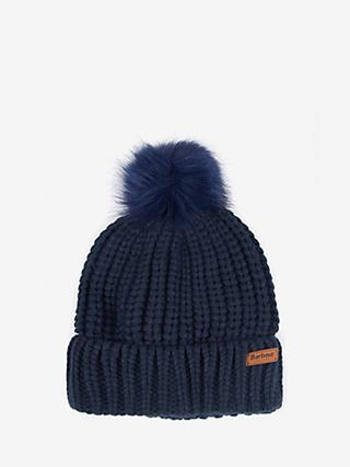 Barbour Saltburn Bobble Beanie, Navy