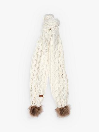 Barbour Cable Pom Scarf, Cloud