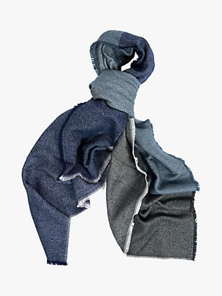 Barbour Modern Country Colour Block Scarf, Grey/Sage