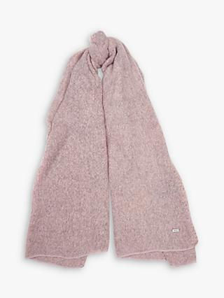 Barbour Plain Boucle Scarf, Pink