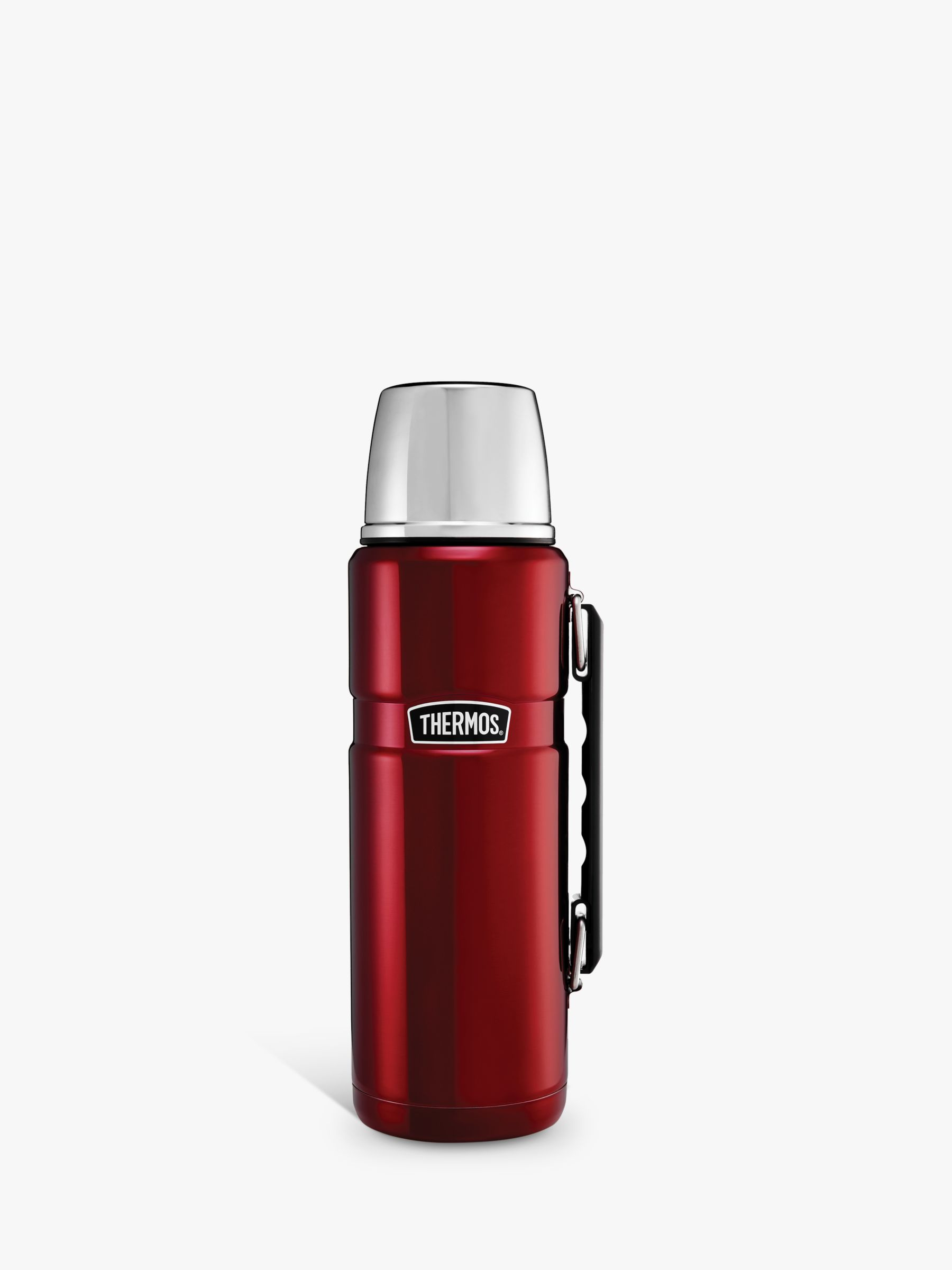 Thermos Thermos Stainless Steel King Flask, 1.2L, Red/Silver