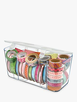 Deflecto Medium Craft Compartment Caddy, Clear