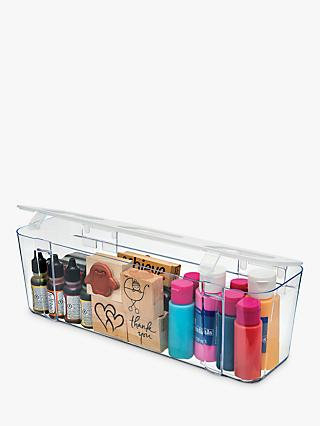 Deflecto Large Craft Compartment Caddy, Clear
