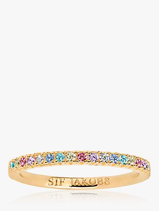 Sif Jakobs Jewellery Elra Cubic Zirconia Band Ring, Gold/Multi