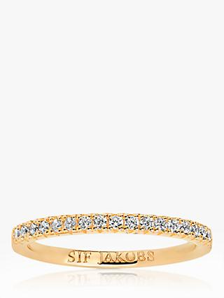 Sif Jakobs Jewellery Elra Cubic Zirconia Band Ring, Gold