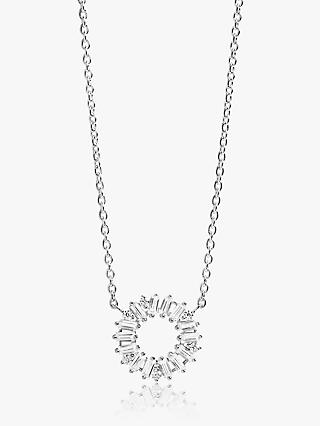 Sif Jakobs Jewellery Cubic Zirconia Round Pendant Necklace, Silver