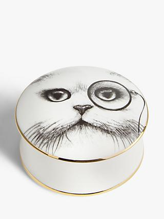 Rory Dobner Cat Monocle Trinket Box, Medium