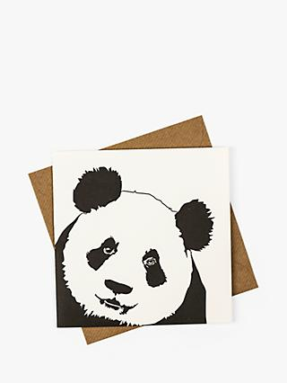 Penguin Ink Panda Blank Greeting Card