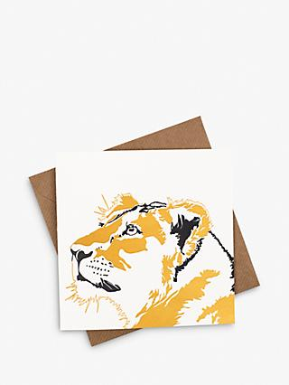 Penguin Ink Lioness Blank Greeting Card