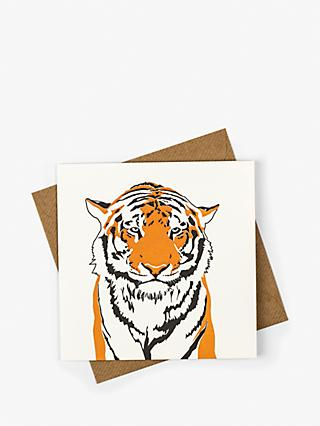 Penguin Ink Tiger Blank Greeting Card