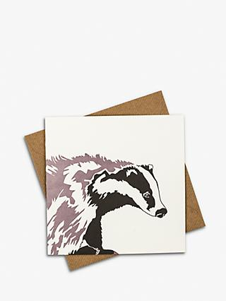 Penguin Ink Badger Blank Greeting Card