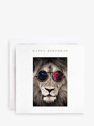 Susan O'Hanlon Sunglasses Lion Birthday Card