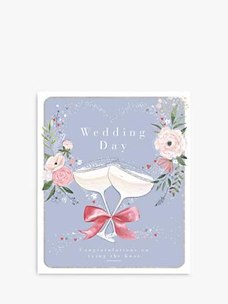 Woodmansterne Champagne Glasses Wedding Card