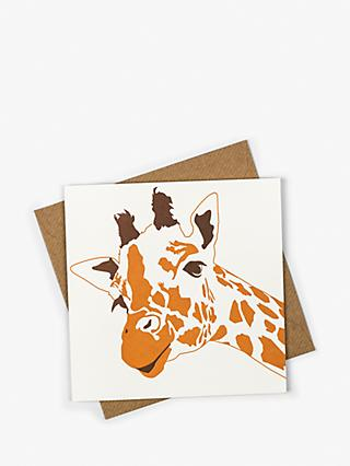 Penguin Ink Giraffe Blank Greeting Card