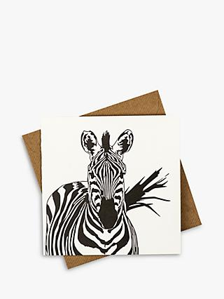 Penguin Ink Zebra Blank Greeting Card