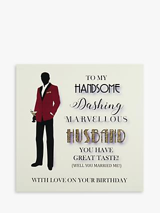 Five Dollar Shake Handsome Husband Birthday Card