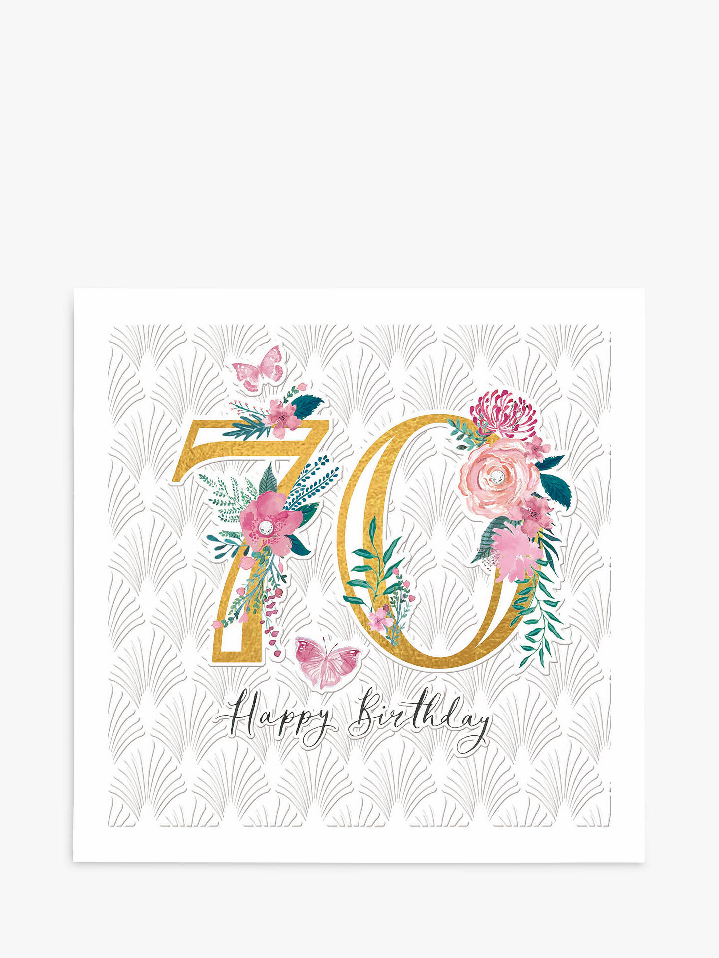 Woodmansterne Floral 70th Birthday Card At John Lewis Partners