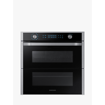 Samsung Dual Cook Flex NV75N7677RS/EU Built-In Pyrolytic Single Oven, Black/Stainless Steel