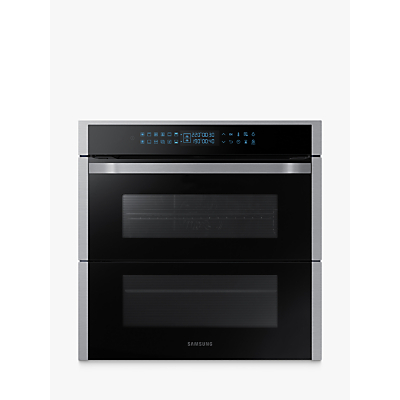 Samsung Dual Cook Flex NV75R7676RS Built-In Pyrolytic Single Oven, Black/Stainless Steel
